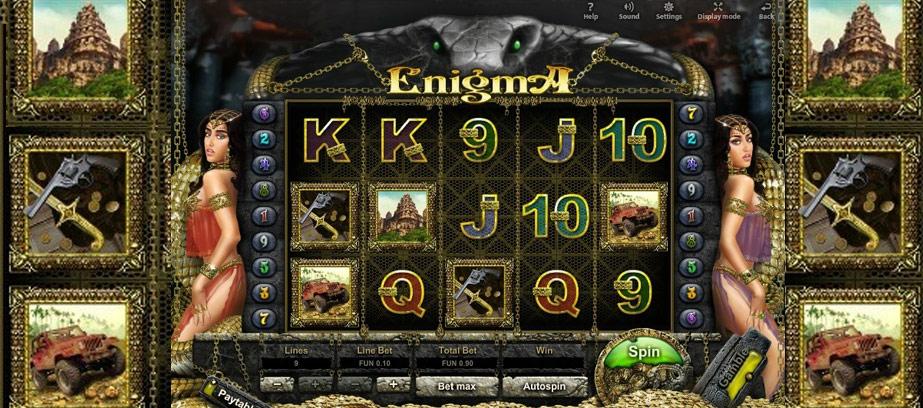 Enigma, un jeu de hasard et d'aventure