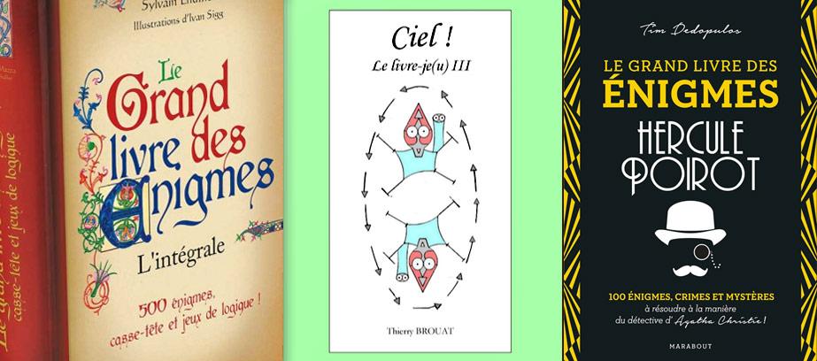 Des livres sur des énigmes